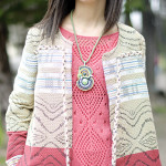 Indian: Green amulet and Woven coat