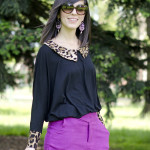 Roar: Leopard details & Purple shorts