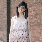 Patterns: Polka dots dress & Stripes heels