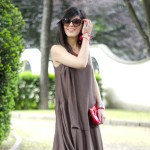 Waving: Etnic dress &amp; Red twist
